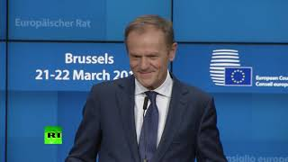 Still 'a lot of spaces in hell' – Tusk during Brexit press conference - RUSSIATODAY