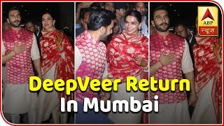 Ranveer Singh, Deepika Padukone return home as man and wife - ABPNEWSTV