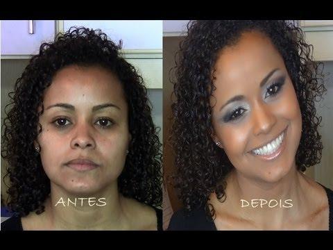 Maquiagem FESTA para pele morena e negra.