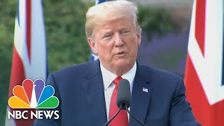 President Donald Trump Warns Immigration Is 'Changing The Culture' Of Europe | NBC News - NBCNEWS