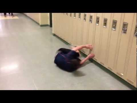 Hallway Swimming' in Canadian school