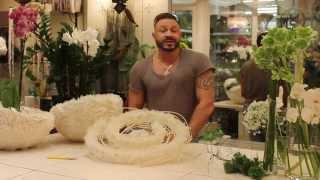 Славы Роска, мастер-класс большой букет на бумажном каркасе с розами латин помпон