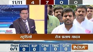 Mainpuri Candidate Tej Pratap Yadav Speaks with India TV - INDIATV