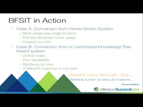 Alfresco Summit 2013: What's New in the Bulk File System Import Tool
