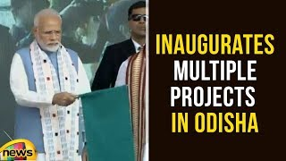 Modi Lays Foundation Stone and Inaugurates Multiple Projects in Odisha | Narendra Modi  | Mango News - MANGONEWS