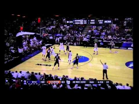 BYU Jimmer Fredette LONG 3 pointer (Last 3 of College) HD