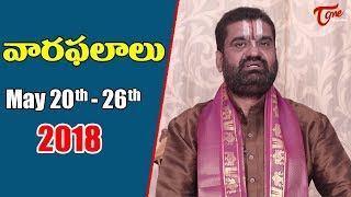 Rasi Phalalu | May 20th to May 26th 2018 | Weekly Horoscope 2018 | TeluguOne - TELUGUONE