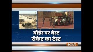 India successfully test-fires MultiBarrel Rocket Launcher BM-21 - INDIATV