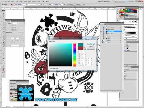 Tutorial on How to quickly color and separate colors in Illustrator-Swiftyspade