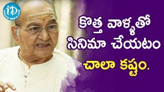 Difficult To Make A Movie With New Artists - Director K Vishwanath | Vishwanadh Amrutham - IDREAMMOVIES