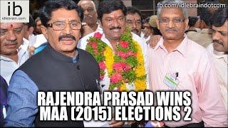 Rajendra Prasad wins MAA (2015) elections 1 - idlebrain.com - IDLEBRAINLIVE
