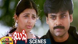 Pawan Kalyan and Bhumika Emotional Scene | Kushi Telugu Movie Scenes | Ali | Mango Videos - MANGOVIDEOS
