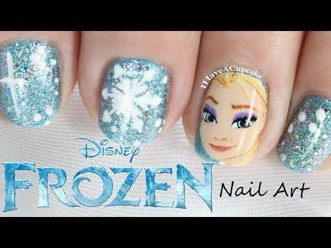 Frozen Nail Art  - Elsa