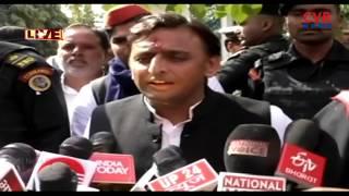 Akhilesh Yadav Speaks with Media LIVE | Comments on BJP | CVR NEWS - CVRNEWSOFFICIAL