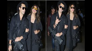 In Graphics: Karan Singh Grover and Bipasha Basu captured at the Airport - ABPNEWSTV