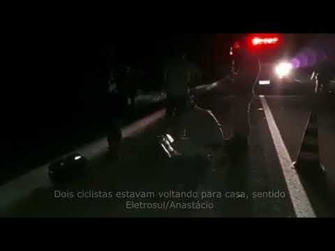Ciclista fica ferido após acidente com moto na BR-419