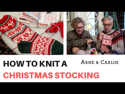 How to Knit a Christmas Stocking by ARNE & CARLOS