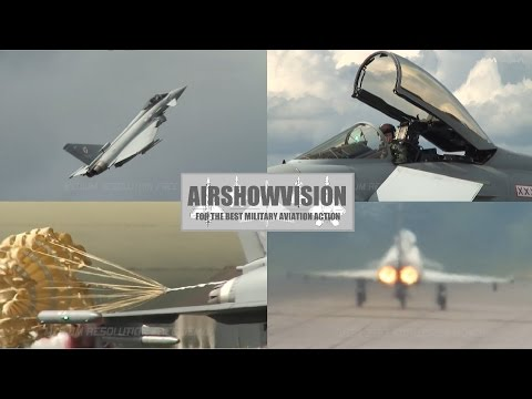 RAF EUROFIGHTER TYPHOON 2012 DISPLAY BUILD UP PART 1 - THE 2008 DEMO (airshowvision)
