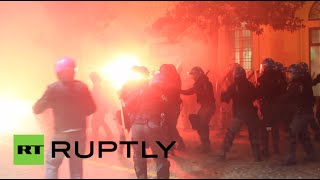 Blasts, tear gas, chaos: Bologna protests against banker & nationalist party - RUSSIATODAY
