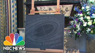 Stephen Hawking Laid To Rest In Westminster Abbey | NBC News - NBCNEWS