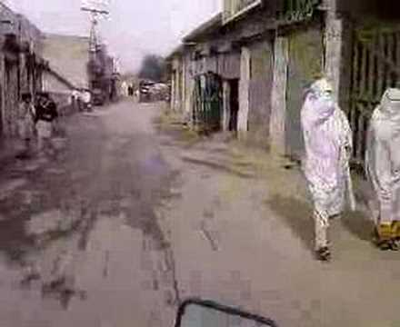 Swabi Ada motorbike ride to the bazar village shops in Maneri Pakistan