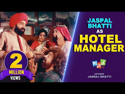 Jaspal Bhatti as Hotel Manager | FULL TENSION | Jaspal Bhatti, Vivek Shauq & BN Sharma