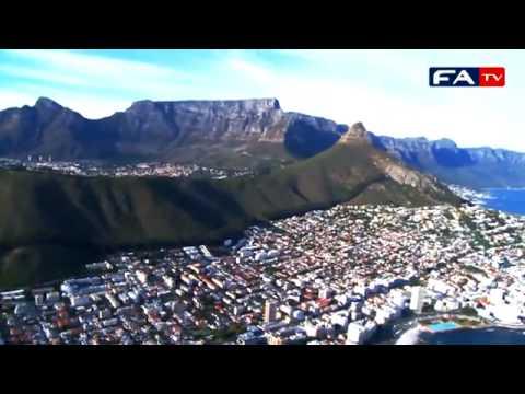 Algérie vs Angleterre: vue aérienne du stade et de la ville de Cape Town !