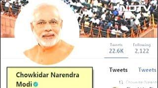"""Chowkidar Narendra Modi"": PM Adds Prefix On Twitter, Top Leaders Follow - NDTV"