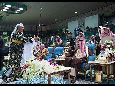 خادم الحرمين الشريفين يشرّف حفل العرضة السعودية ضمن نشاطات مهرجان الجنادرية_٣١