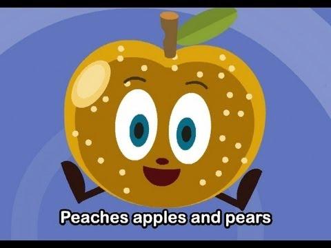 Muffin Songs – Peaches, Apples and Pears  İngilizce Tekerlemeler ve İngilizce Çocuk Şarkılar