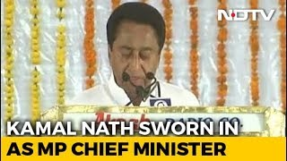 Kamal Nath Takes Oath As Chief Minister Of Madhya Pradesh - NDTV