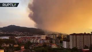 Wildfires rage across Galicia region in Spain, at least two dead - RUSSIATODAY