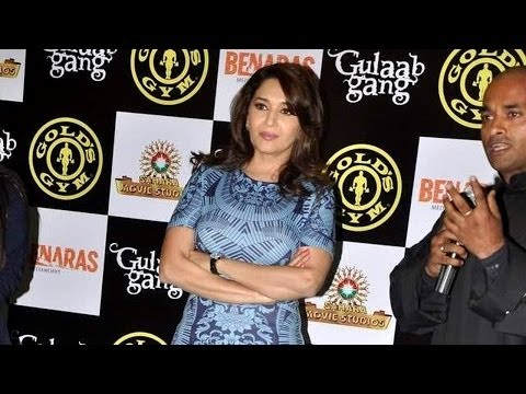 Gulab Gang's Madhuri Dixit At Gold's Gym