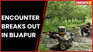 Encounter breaks out between security forces & Maoists in Bijapur's Chhattishgarh - NEWSXLIVE