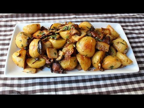 foodwishes - Roasted Wild Mushroom & Potato Salad - Fall Mushroom & Potato Side Dish Recipe - Learn how to make a Roasted Wild Mushroom & Potato Salad! Go to http://foodwishes.blogspot.com/2013/10/kicking-off-side-dish-season-with.html for the ingredient amounts, extra information, and many, many more video recipes! I hope you enjoy this easy Fall Mushroom & Potato Side Dish Recipe!
