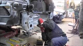 Porsche. Body repair. Ремонт кузова.