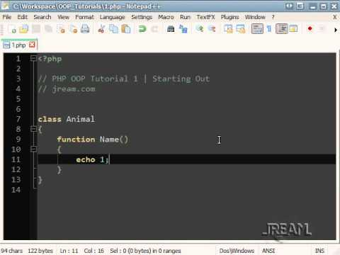 PHP OOP Tutorial 1 | Starting Out