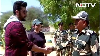 Arjun Kapoor Meets Soldiers At The BSF Outpost - NDTV