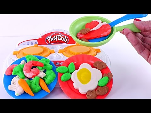 Play Doh Kitchen Creations Sizzlin' Stove Top Playdough Food New 2017 Toys