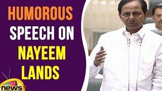 KCR Humorous Speech On Nayeem Lands   Telangana Assembly   Mango News - MANGONEWS