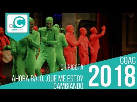 La agrupación Ahora bajo... que me estoy cambiando llega al COAC 2018 en la modalidad de Chirigotas. En años anteriores (2017) concursaron en el Teatro Falla como Los que nunca tiran la toalla, consiguiendo una clasificación en el concurso de Preliminares.