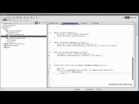 Spring Tutorial 41 - Implementing RowMapper