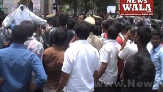 Osmania University students protested for permanent employment of temporary employees - THENEWSWALA