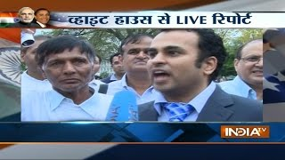 India TV Live reporting outside from White House Washington DC - INDIATV