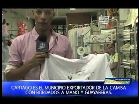 Cartago es el municipio exportador de la camisa con bordados a mano y guayaberas