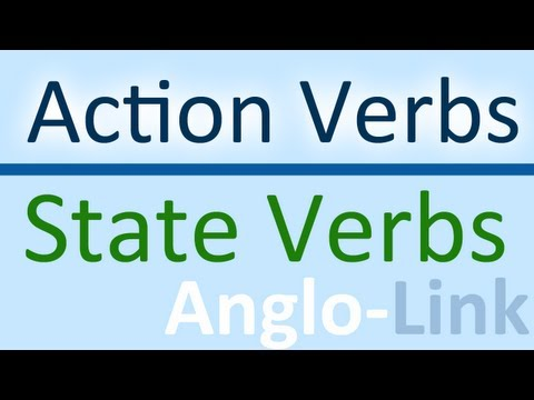 Action Verbs vs State Verbs - Learn English Tenses