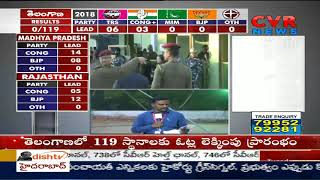 Votes counting begins in Karimnagar | Telangana Election Results | CVR News - CVRNEWSOFFICIAL