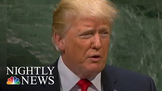"President Donald Trump Defends ""America First"" Agenda At UN 