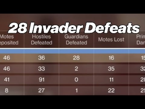 28 Invader Defeats In One Gambit Match