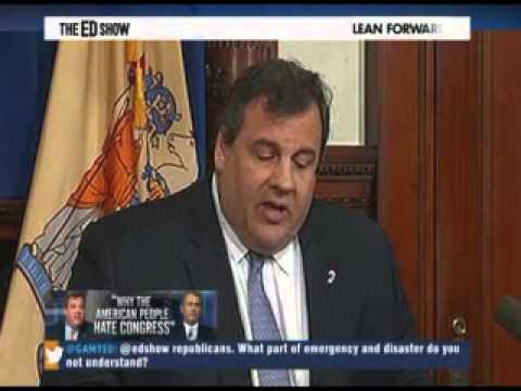 Chris Christy Sandy Relief: Chris Christie